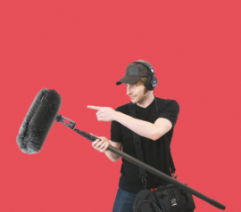 Звукорежиссер на съемку